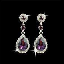 Elegant Women's Crystal Vintage Drop Dangle Rhinestone Ear Stud Earrings Jewelry