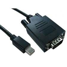 Mini Display Port DP to VGA Adapter Cable Monitor LCD TV Video Lead Mac PC 1m