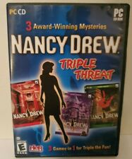 Nancy Drew Triple Threat 3 Games In 1 Dare To Play CD PC Computer Game Windows