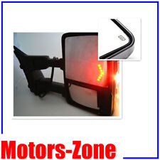 For 08-16 F250-F550 Super Duty Towing Mirrors Power Heated Smoke Turn Signal