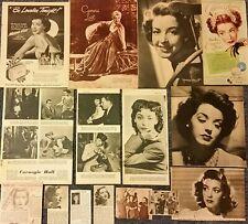Original 1940s Clippings of Marsha Hunt