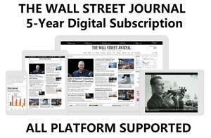 Wall Street Journal WSJ 5 Years All Platforms Subscription Region Free