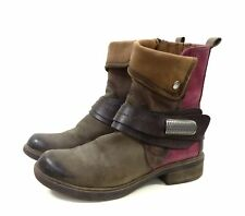 TAMARIS Stiefeletten Boots Taupe Rot Gr. 36