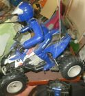 Polaris 4 wheeler Remote Control RC ATV Blue Outlaw + Rider Remote Tested 2011