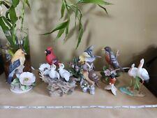 Andrea By Sadek Vintage Porcelain Bird Figurines Figurine Lot