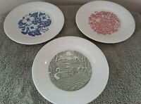 Homer Laughlin 6 3/4'' Bread Plates 1950s Harvest, Wild Rose & Pastoral