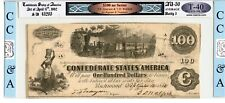 1862  $100        Confederte Currency  T-40