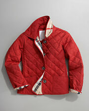 NWTS Burberry Military Red Mini Westbury Quilted Jacket Coat Children 10 Y Year