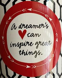 NEW Dreamer's Love heart Red Black Mug Coffee Tea Chocolate Chain design Gift