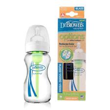 Dr Brown's 270ml Botella de bebé de vidrio opciones de cuello ancho