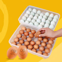 34 Grid Egg Box Food Container Eggs Refrigerator Storage Box Crisper.ft