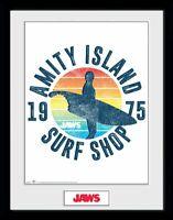 Jaws 1975 Amity Island Der Weisse Hai Collector Print Frame Poster Bild Rahmen