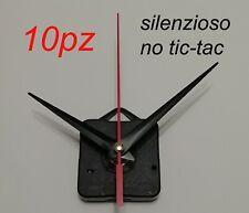 10pz MECCANISMI OROLOGIO SILENZIOSO parete muro quarzo meccanismo movimento