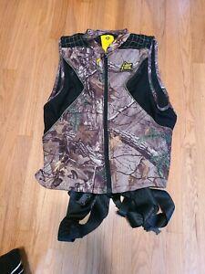 Real Tree Hunter Safety System Harness Pro Series Vest Size L/XL