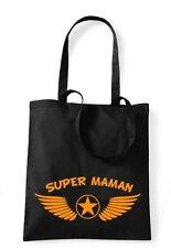 Sac noir 100 % coton  marque westford mill SUPER MAMAN AILES
