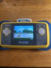 Vtech MobiGo System Blue/Yellow With Mickey Mouse Clubhouse Cartridge. Works!