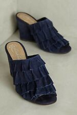 Anthropologie Ronda Wedge Liendo By Seychelles Blue EXQUISITE Size 9  $148