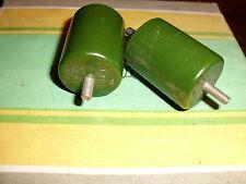 K15-4 470pf 30kv H70 Lot of 2pcs Russian High Voltage Doorknob  Capacitors