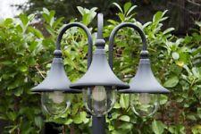 Kandelaber Außenstehleuchte Außenlampe Wegelampe Stehlampe schwarz 3 Köpfen