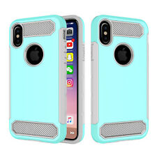 For iPhone XS Max XR Case 8 7 6 Hybrid Rubber Heavy Duty Bumper Shockproof Cover