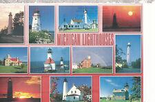 Michigan Lighthouse's  11 Thumb Nail Photos   Michigan    Postcard 8916