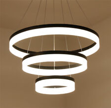 Modern Acrylic Aluminum Round Black Chandelier Pendant LED Light Ceiling Lamps