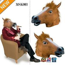Caoutchouc Cheval Tête Masque pantographe Fancy Party Cosplay Halloween Adulte Costume MSK003