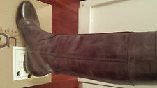 $1095 New sz 10/40 Chloe Heloise Calfskin Brown Leather Boots Shoes Low Heel