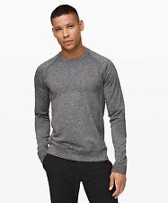 Lululemon Men's Engineered Warmth Long Sleeve Shirt Gray Merino Wool Blend