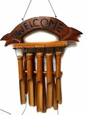 "18"" Bamboo Welcome Wind Chime Chesapeake Bay Hand Tuned New with tags"
