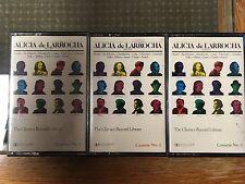 Alicia De Larrocha Classics Record Library Book of The Month Club 3 tape set