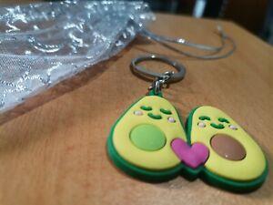 Avocado Shaped Rubber Key Tag - Keyring for Car key Office Room Keychain Holder