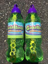 Lot of 2 Gazillion Bubbles 1 Liter Bubble Solution 2 Liters Total NEW w/ Wand