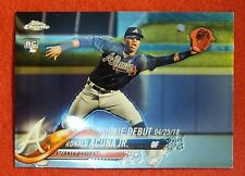 2018 TOPPS CHROME UPDATE SERIES RONALD ACUNA,JR. ROOKIE DEBUT HMT31