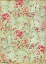 Rice Paper for Decoupage, Scrapbook Sheet, Stamperia Floral Texture