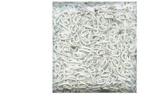 100 PCS WHITE PLASTIC CURTAIN HOOKS NYLON TAPE TRACK RAIL GLIDERS RUNNER LOOP