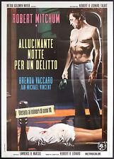 CINEMA-manifesto ALLUCINANTE NOTTE PER UN DELITTO mitchum, vaccaro, B. LEONARD