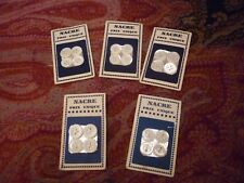 Set of 5 Plates of Buttons Mother-Of-Pearl
