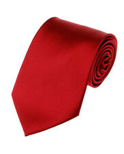 Manzini Neckwear® New Hot Trend! Solid Color Plain Classic Necktie Men's Tie