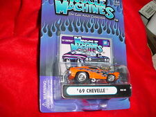 Muscle Machines '69 Chevelle Orange Flamed 03-15 Mip Free Usa Shipping