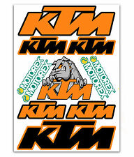 KIT 11 STICKERS ADESIVI VINILE DECALS AUTO MOTO KTM RACING TUNING SPONSOR D 30