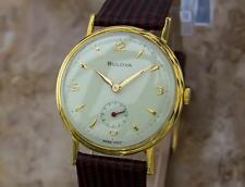 Bulova Swiss Made Vintage 1960s Mens 34mm Gold Plated Manual Dress Watch Y15