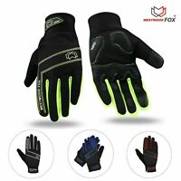 Winter Gloves Mens Cycling Gloves Full Finger Touchscreen Outdoor Thermal Warm