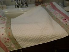 Cottage Chic Shabby Pink Rosalie Roses by R.Ashwell 1 of a KIND Bath mat Hand M.