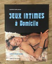 affiche poster de cinéma érotique JEUX INTIMES À DOMICILE 40x60cm -Neuve