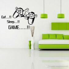 EAT SLEEP GAME Funny Gamer Game Vinyl Sticker Decal Car Window bumper Wall 7""