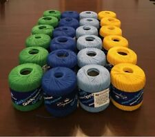 36 roll lot of multi-color QuickThread Crochet Thread (Brand New) Size 3