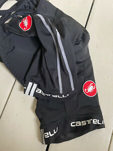 Mens Castelli Cycling Lycra Bib Shorts Padded Black XL Never Worn