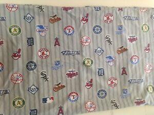 Pottery Barn Teen Major League Baseball Team Logos STD Cotton Pillowcase