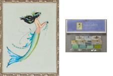 New listing Nora Corbett Mirabilia Cross Stitch Pattern & Embellish Pk Mermai 00004000 D Azure Nc190
